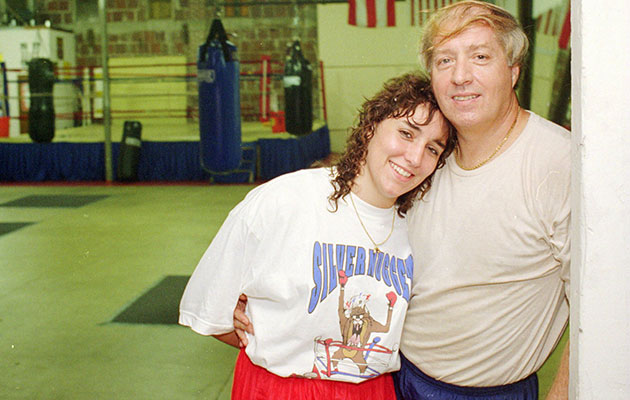 Christy and Jim Martin pose at their gym in Orlando in 1995.
