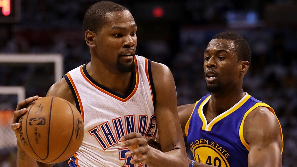 Kevin Durant and Harrison Barnes