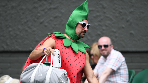 wimbledon strawberry suit man