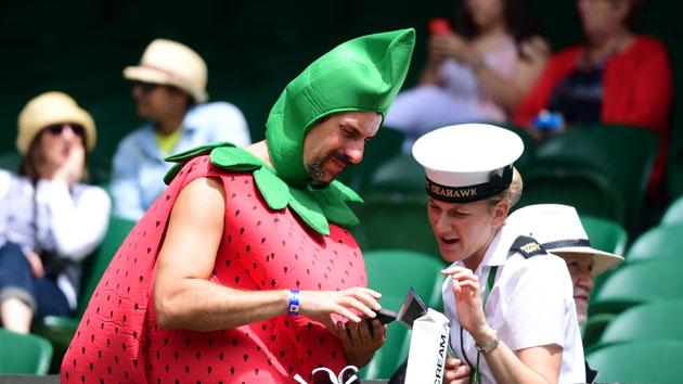 strawberry guy wimbledon