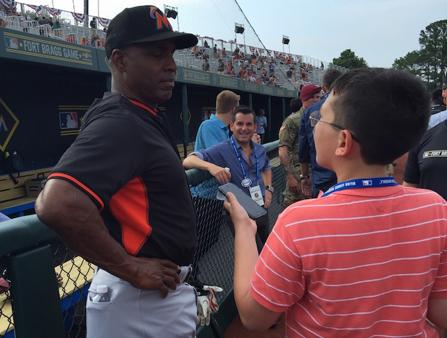 Kid Reporter Dylan Goldman interviews home run king Barry Bonds.