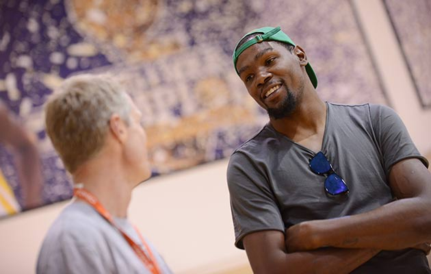 Steve Kerr and Kevin Durant