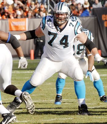Schwartz with Panthers in 2011
