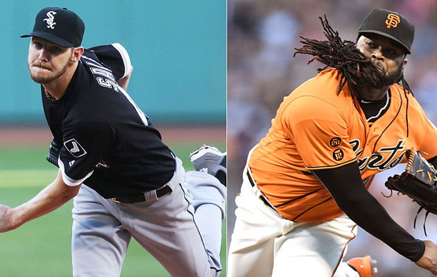 Chris Sale, Chicago White Sox; Johnny Cueto, San Francisco Giants