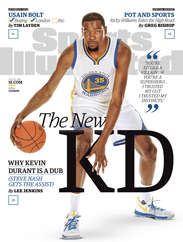 kevin durant golden state warriors sports illustrated cover