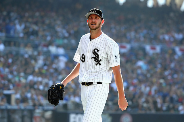23d8dbe3d Chicago White Sox pitcher Chris Sale is not a fan of throwbacks. He was  suspended five games for destroying the old school uniforms that Chicago  was ...