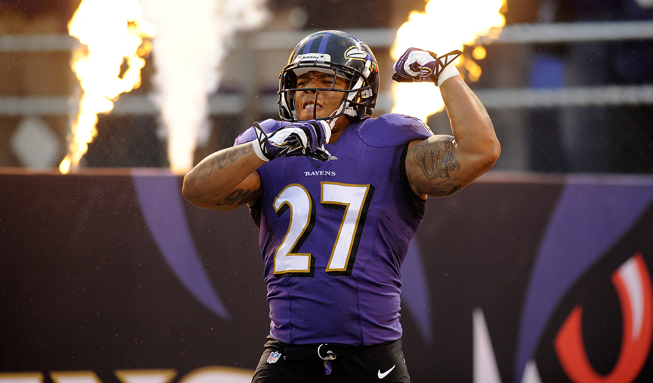 Ray Rice last played football in the 2013 season, when his yards per carry average was 3.1.