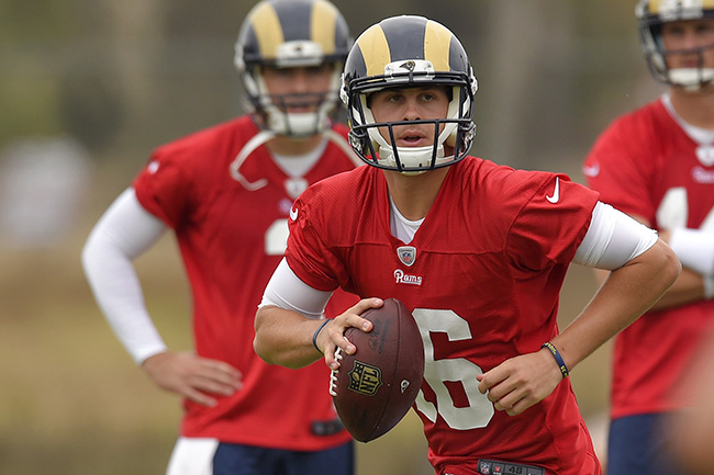 There's no real season Goff shouldn't start in Week 1.