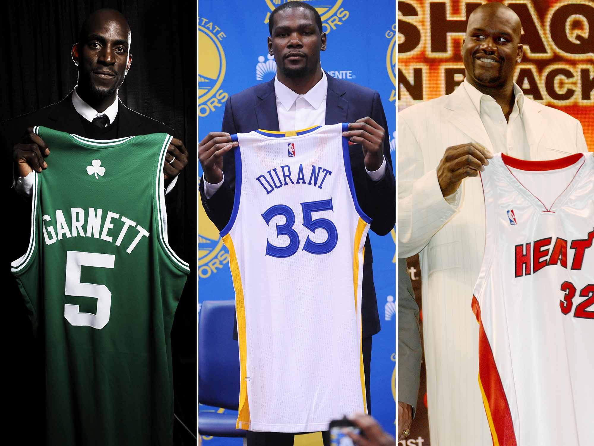 Kevin Garnet, Kevin Durant and Shaquille O'Neal