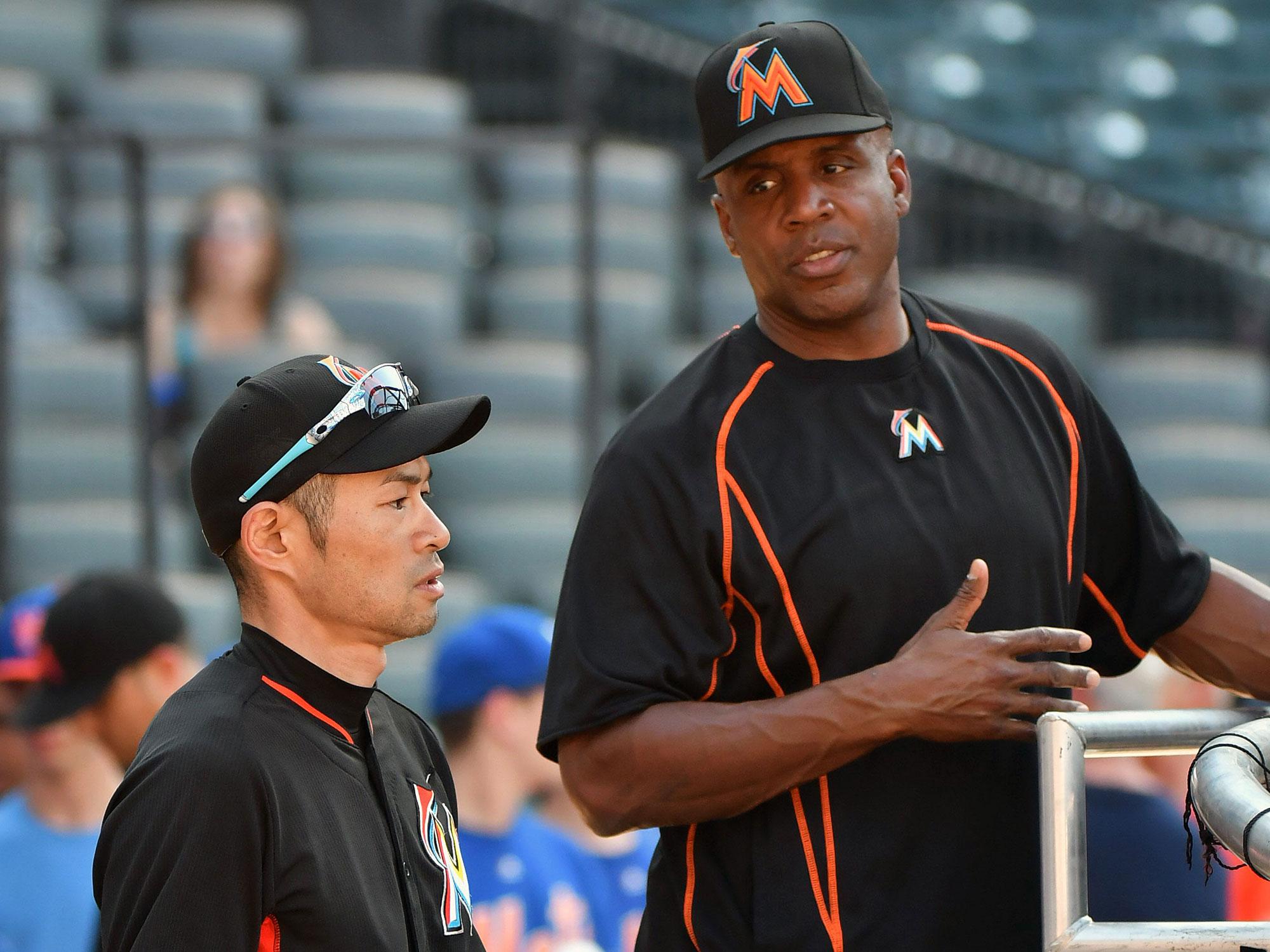 ichiro Suzuki and Barry Bonds, Miami Marlins