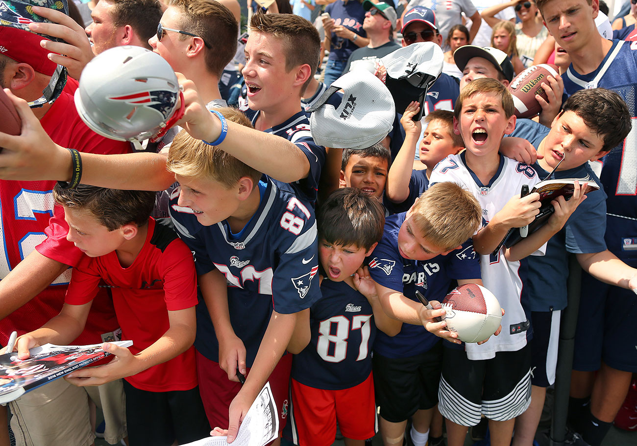 The Deflategate drama seems only to have made Pats fans more empassioned.