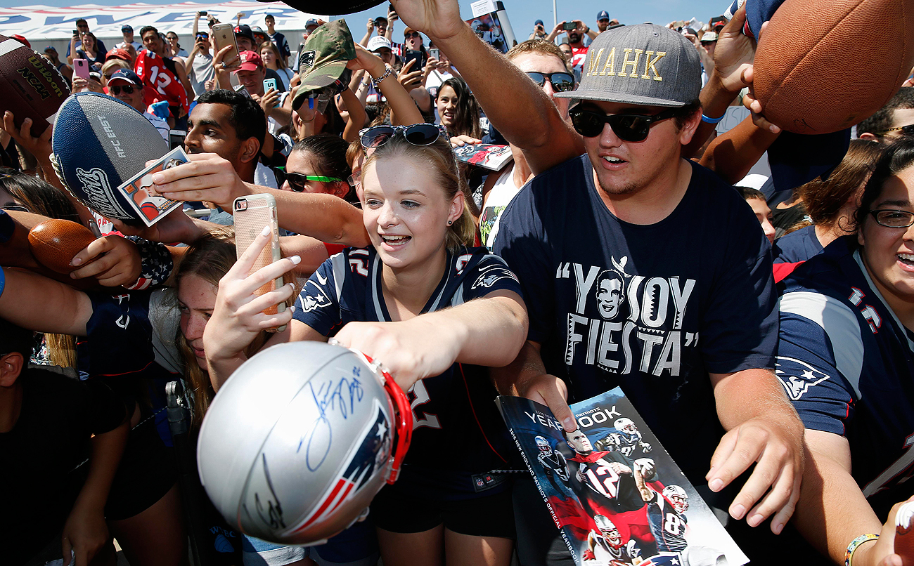 Patriots fans have been out in force at the team's training camp in Foxborough.