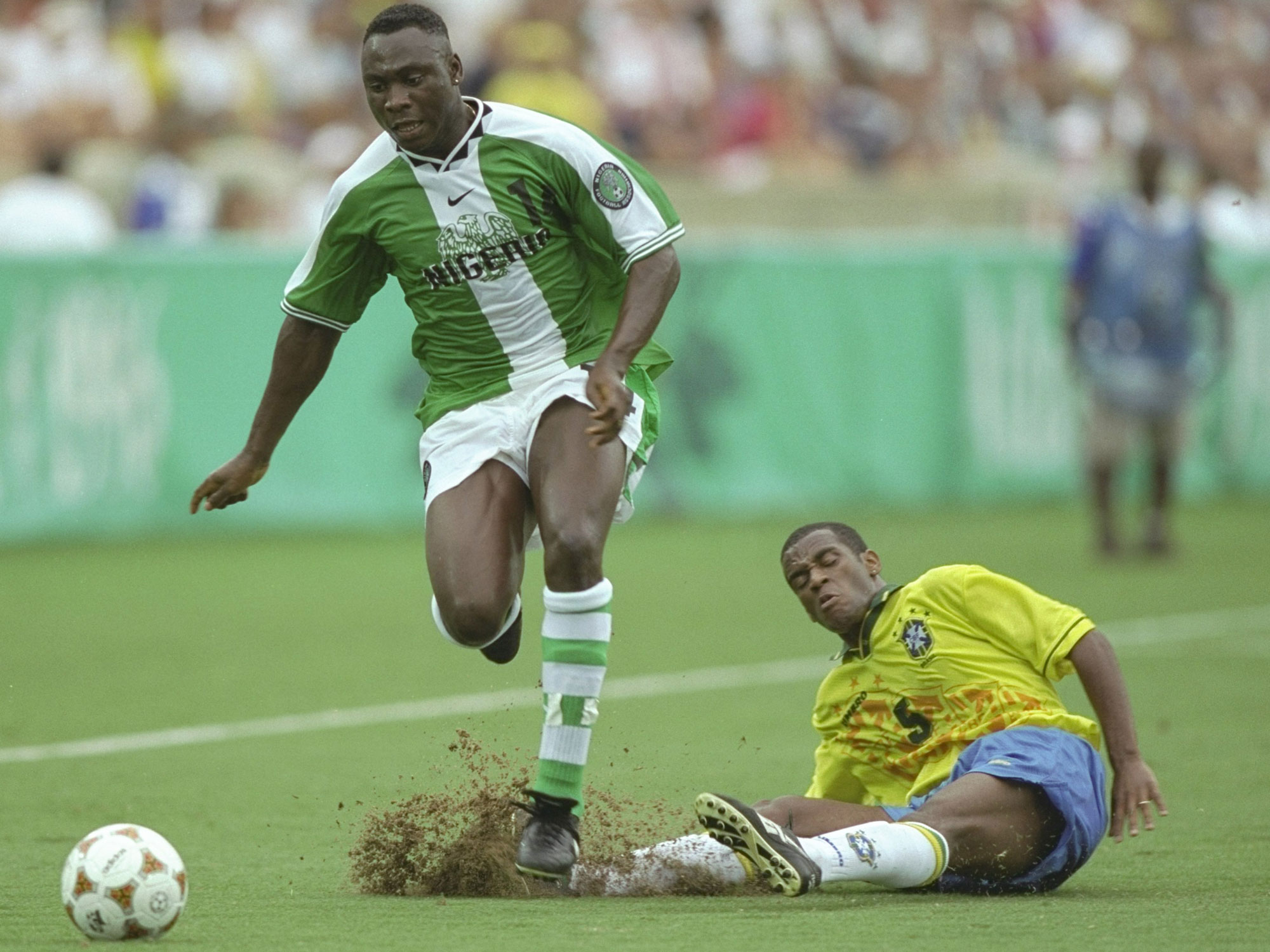 Brazil falls to Nigeria at the 1996 Olympics