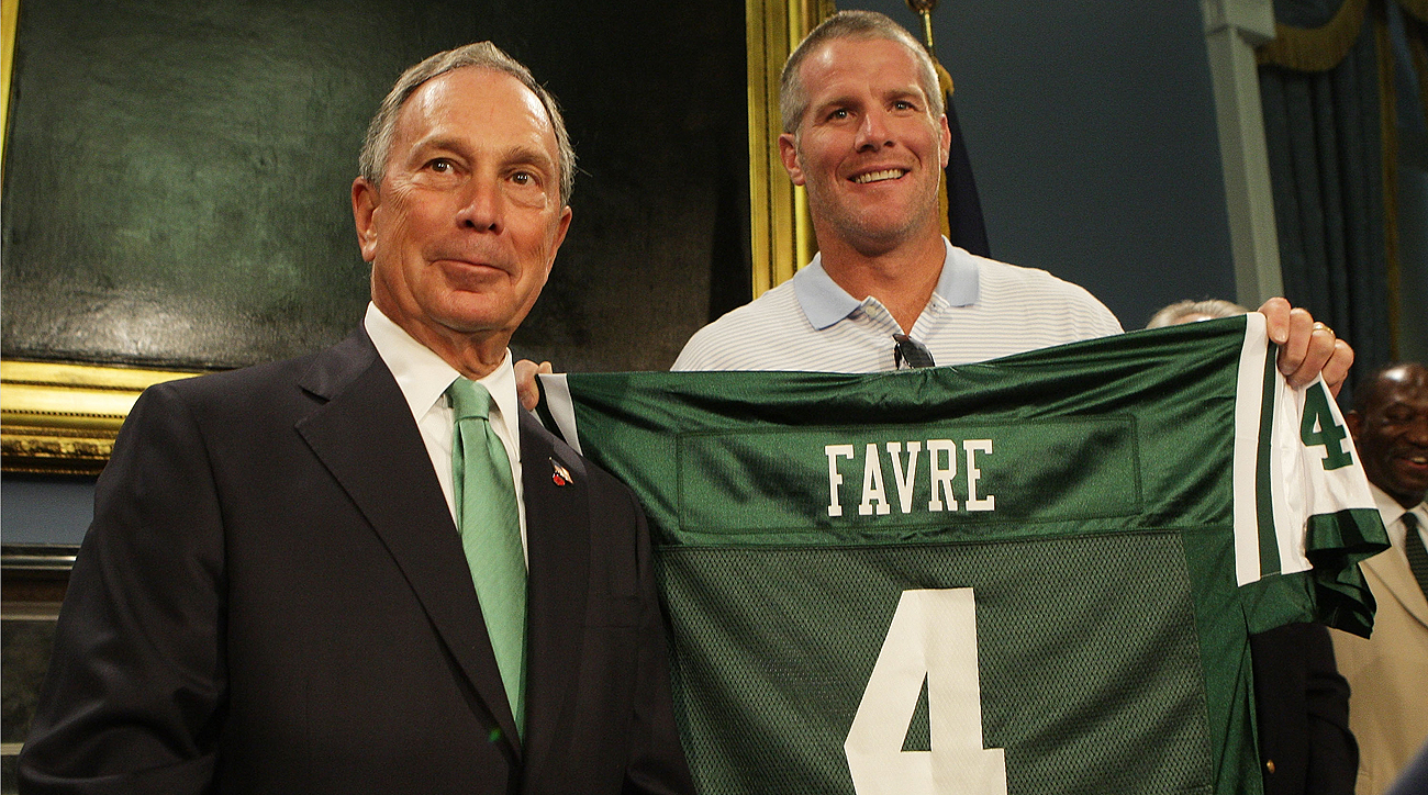 New York and Mayor Michael Bloomberg embraced Favre, but his tenure with the Jets lasted for only one season.