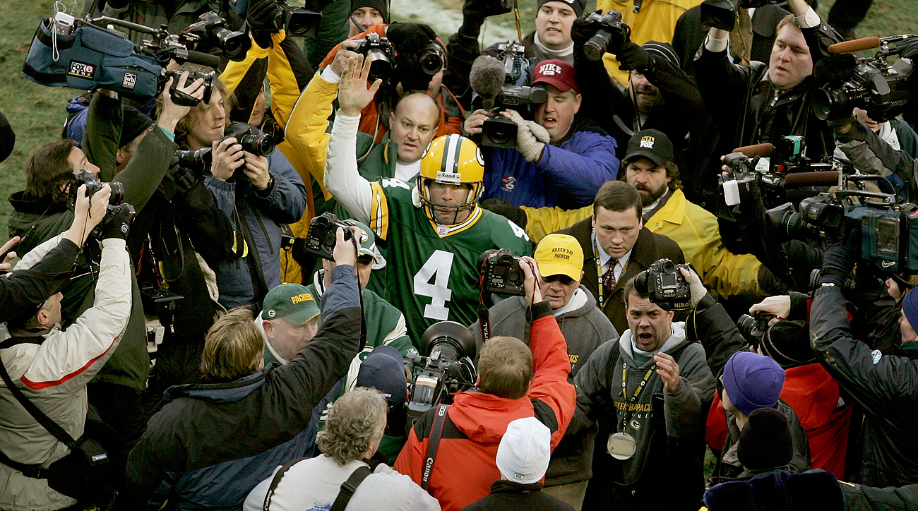 Favre was the center of attention because of his play on the field and his candidness off it.