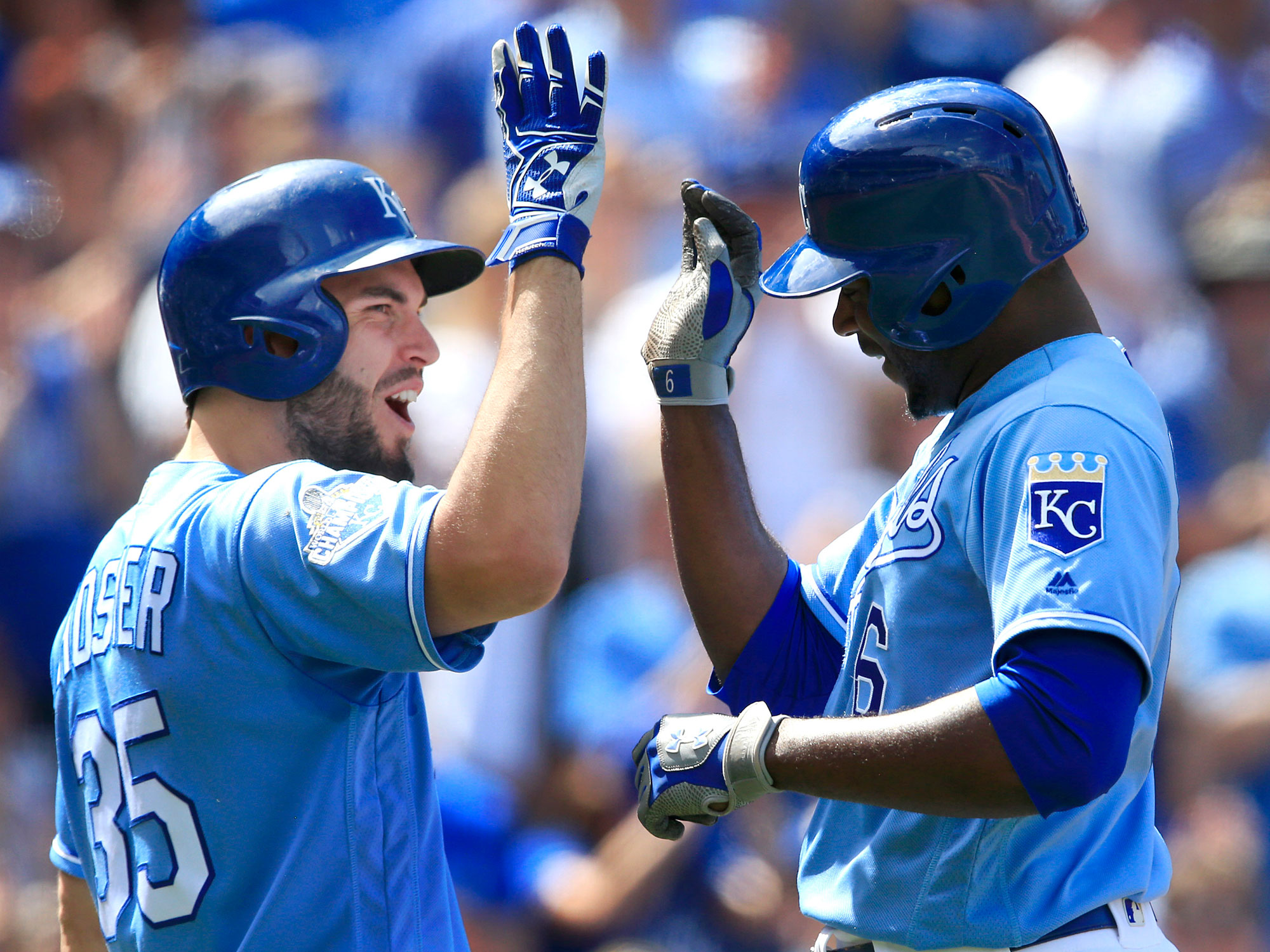 Eric Hosmer and Lorenzo Cain, Kansas City Royals