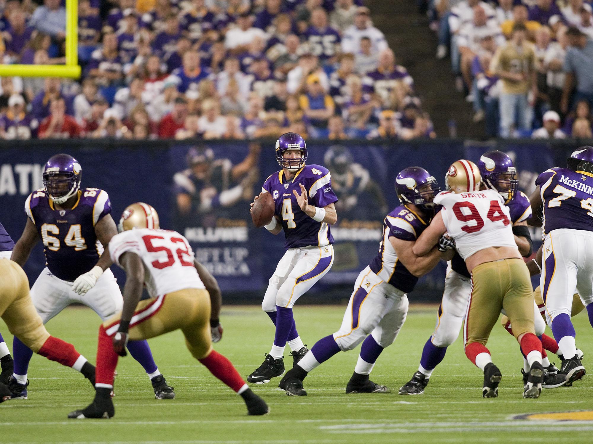 brett favre vikings 49ers touchdown