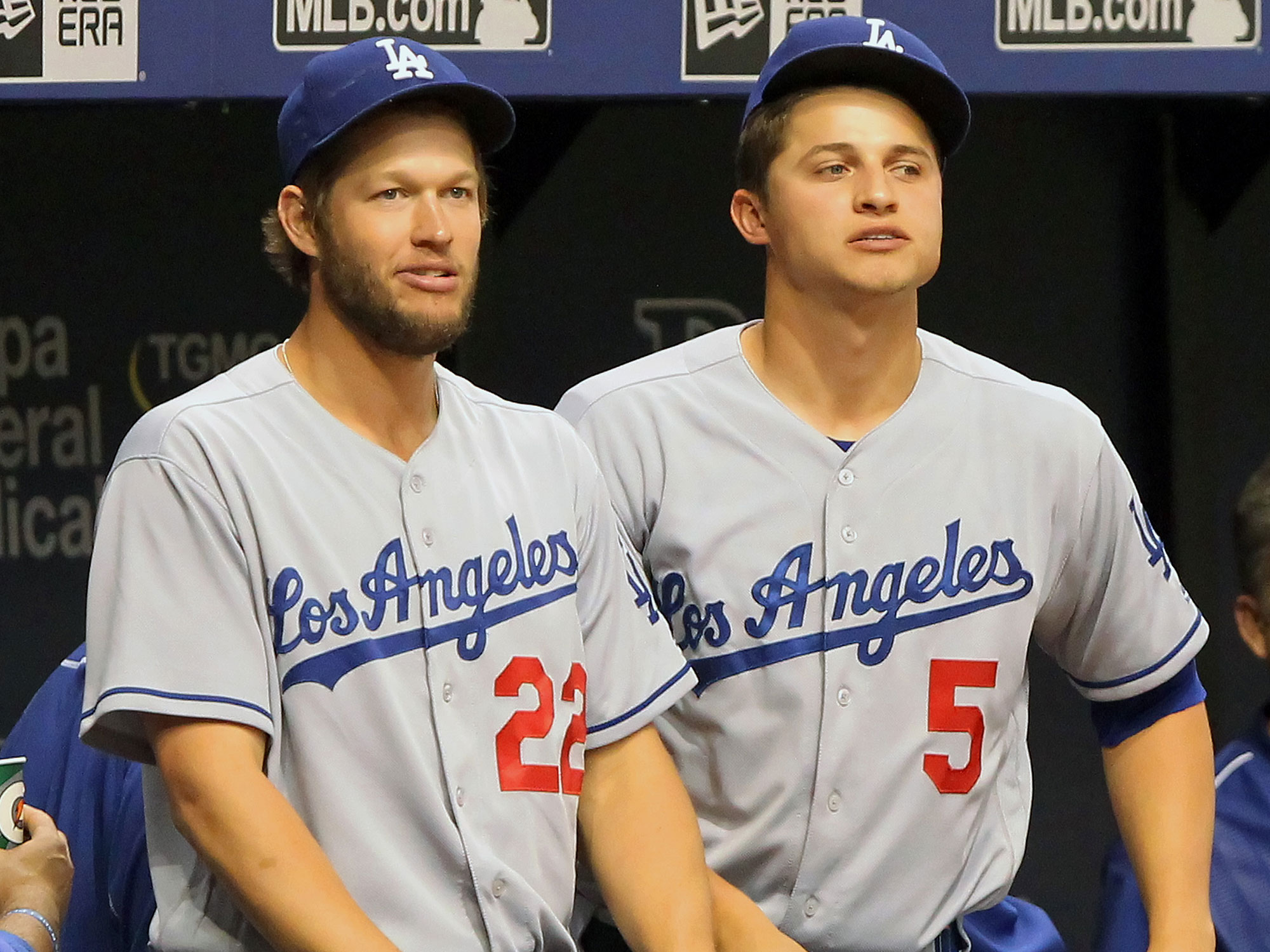 Clayton Kershaw and Corey Seger, Los Angeles Dodgers