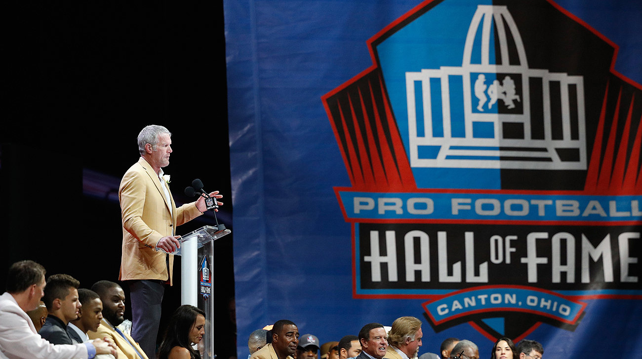 Brett Favre's 36-minute speech was the longest in the history of the Hall of Fame.