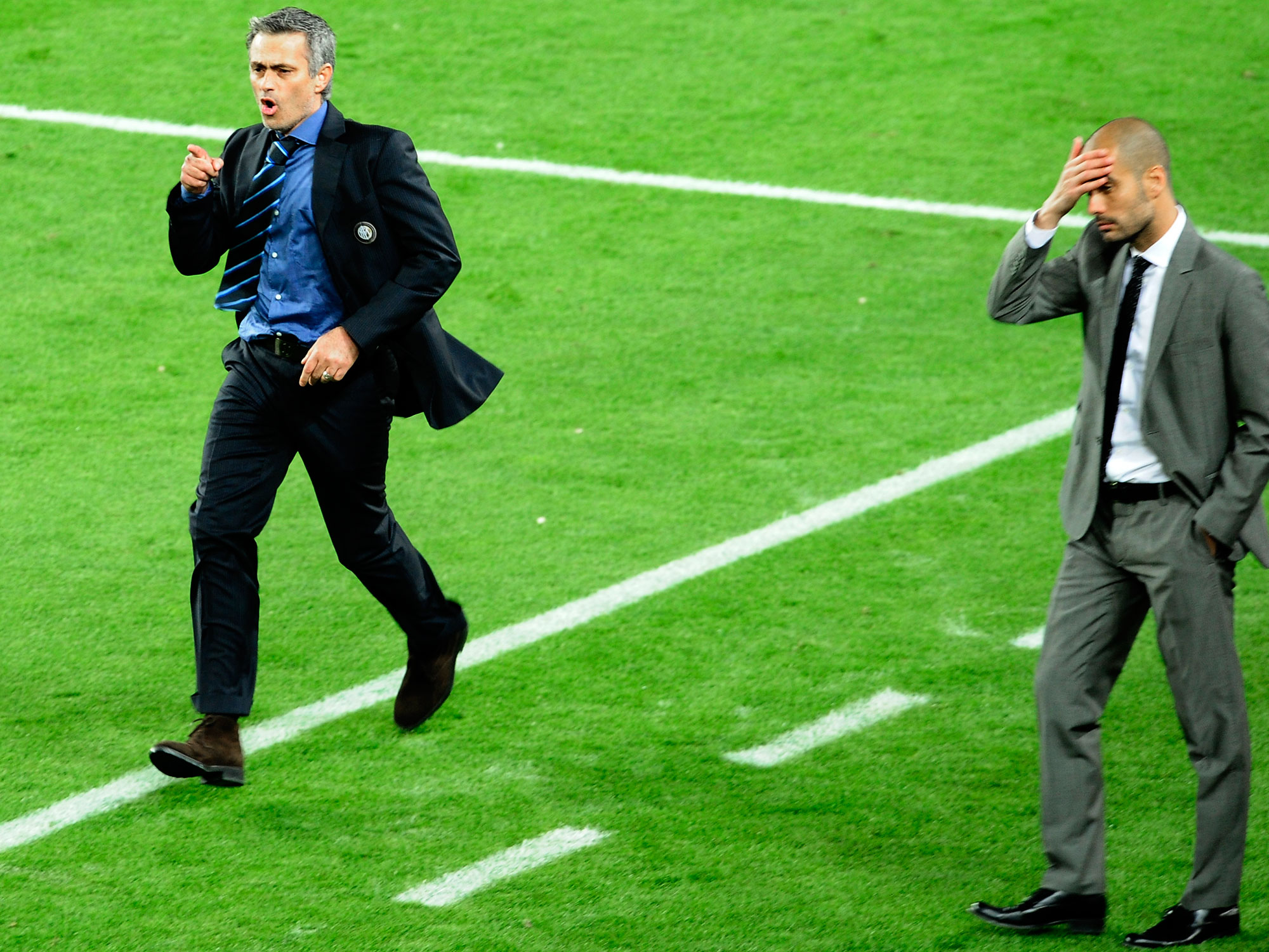 Jose Mourinho and Pep Guardiola in 2010