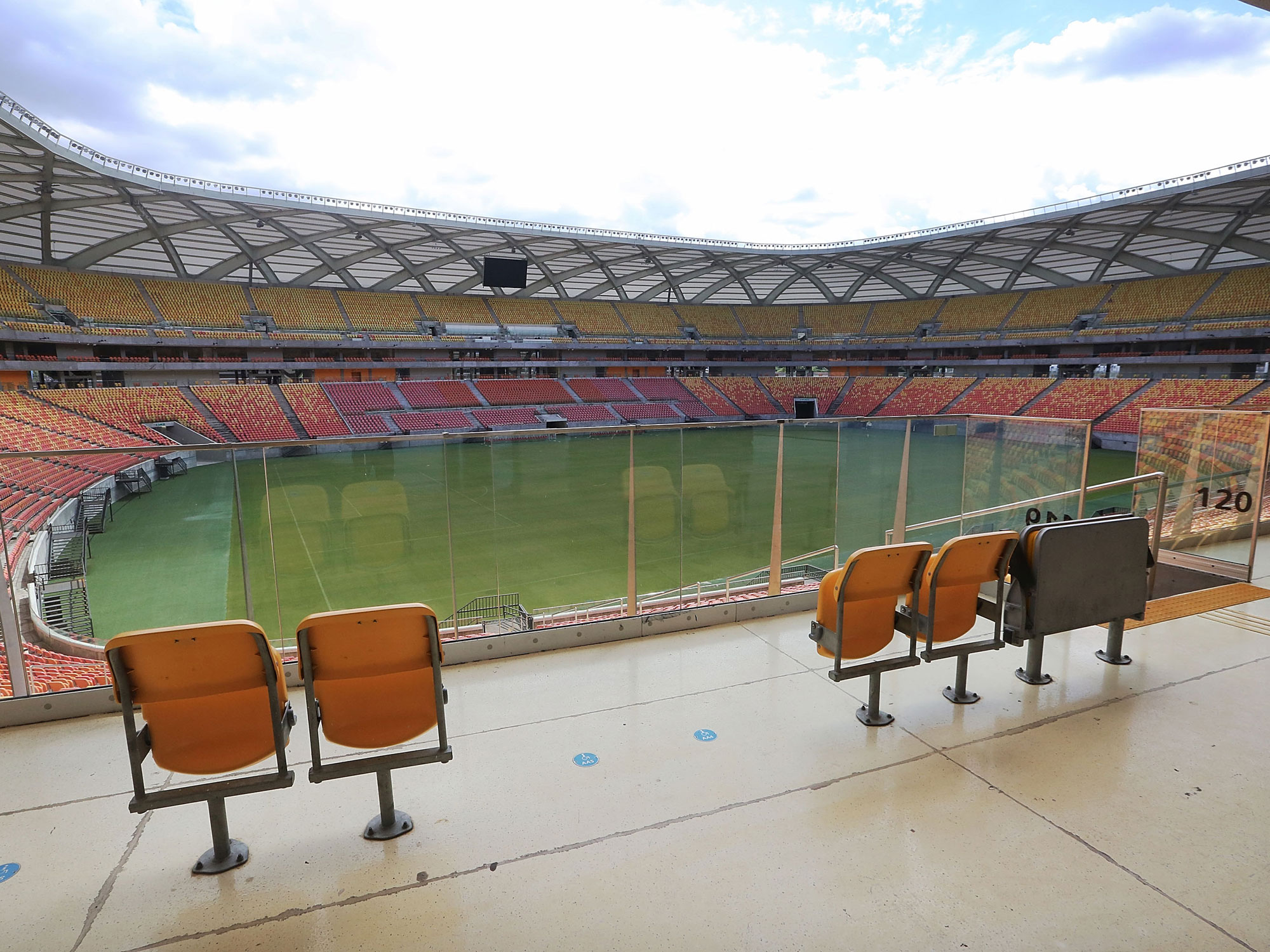 Arena Amazonia in Manaus goes mostly unused