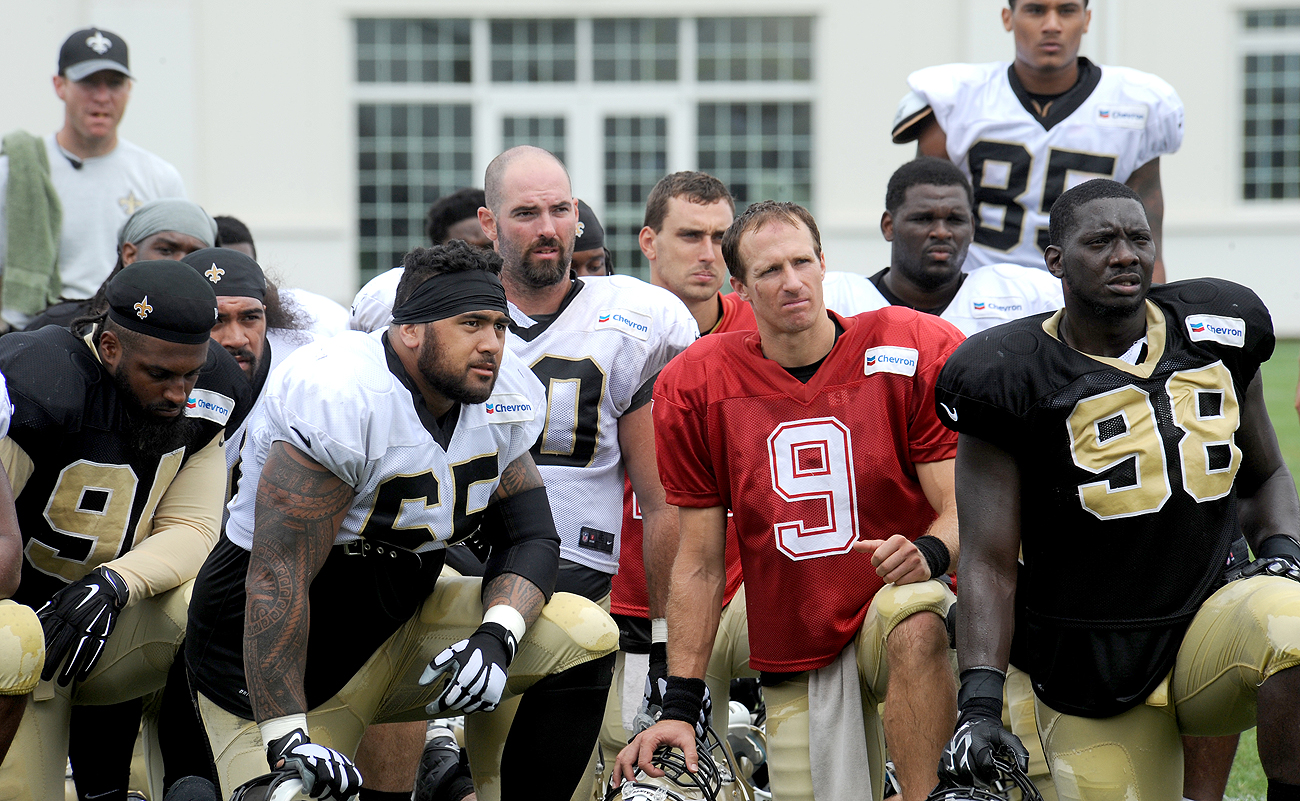 As the team grows younger around him, Drew Brees is enjoying passing down knowledge gleaned during his 16 seasons—and counting.