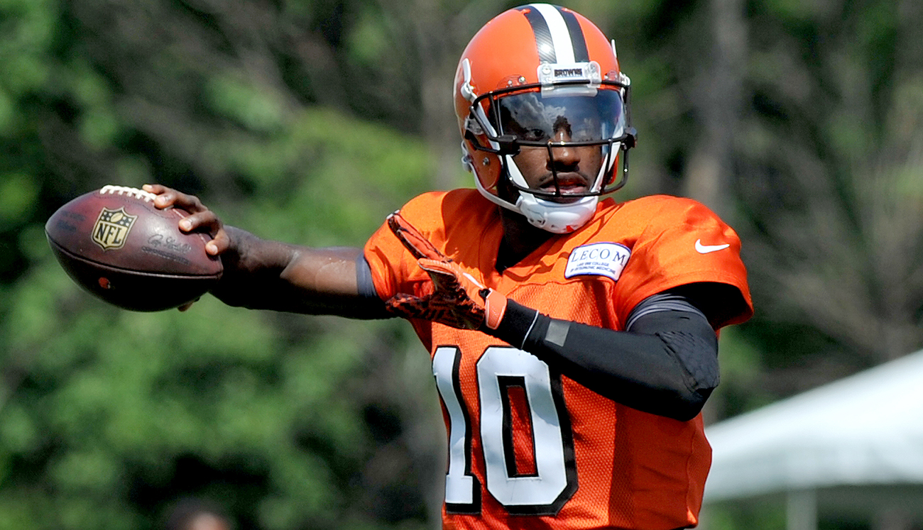 Robert Griffin III officially has been named the starting quarterback of the Browns.