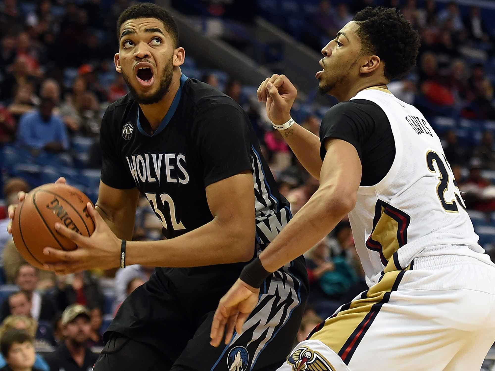 Karl-Anthony Towns and Anthony Davis