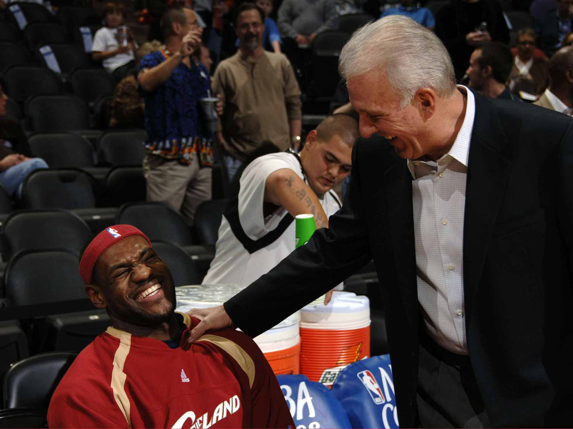 LeBron James and Gregg Popovich