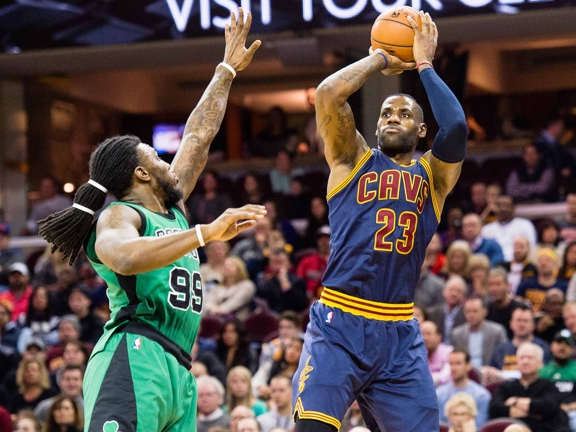 LeBron James and Jae Crowder
