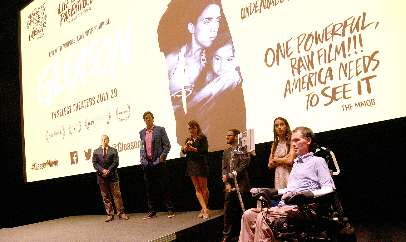 The award-winning documentary 'Gleason' is showing in select theaters across the country.
