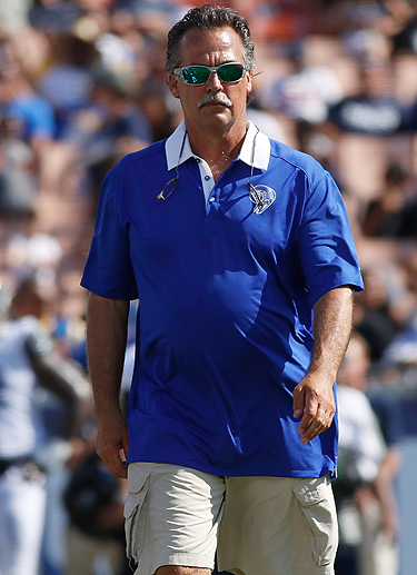 Jeff Fisher is 169-156-1 in 21 years as an NFL coach, and hasn't had a winning season since 2008.