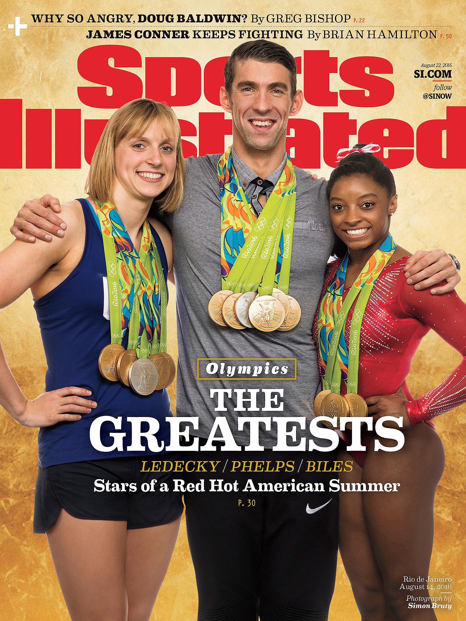 Michael Phelps, Simone Biles, Katie Ledecky: SI cover