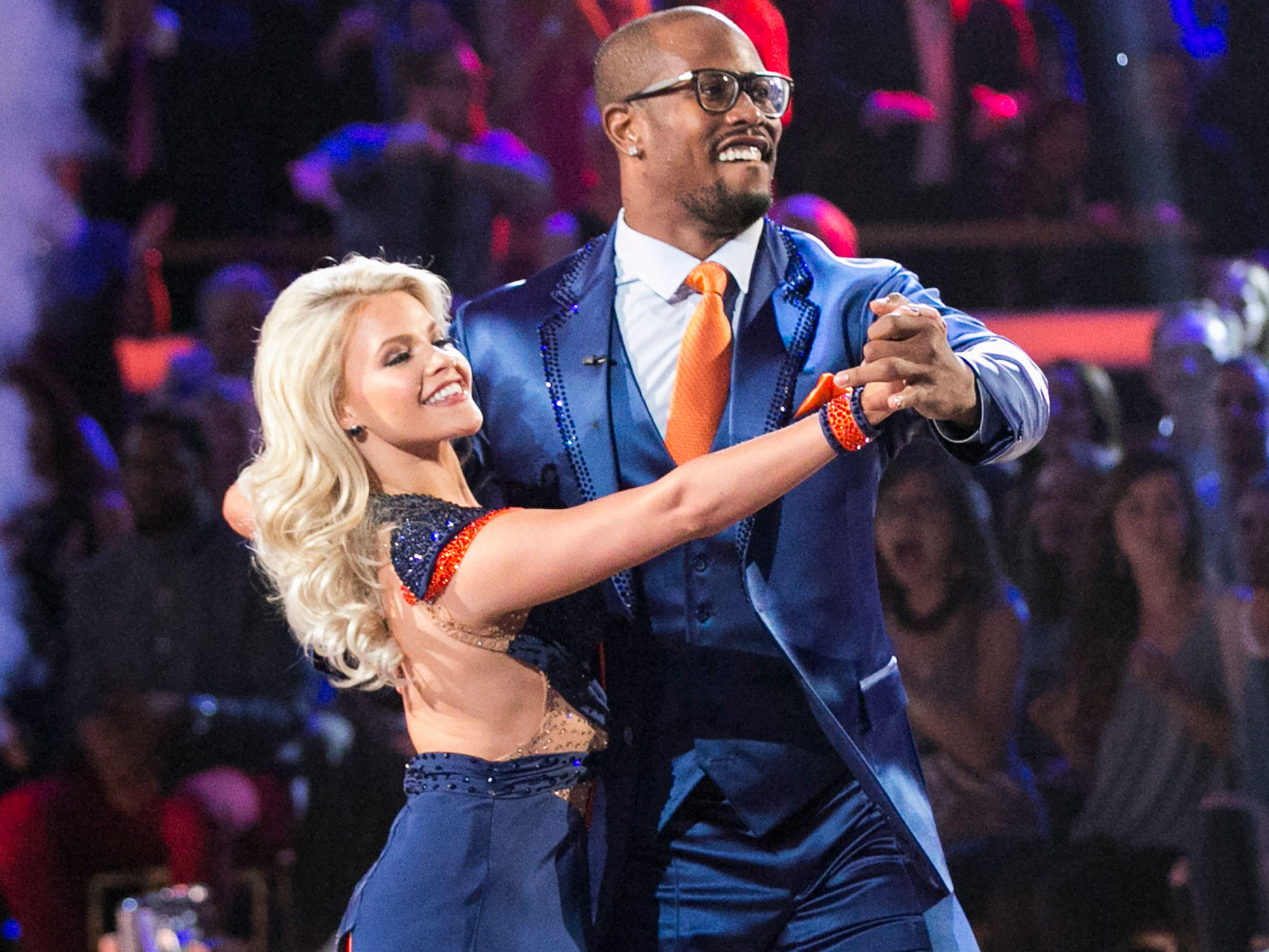 Von Miller with Dancing With The Stars partner Witney Carson