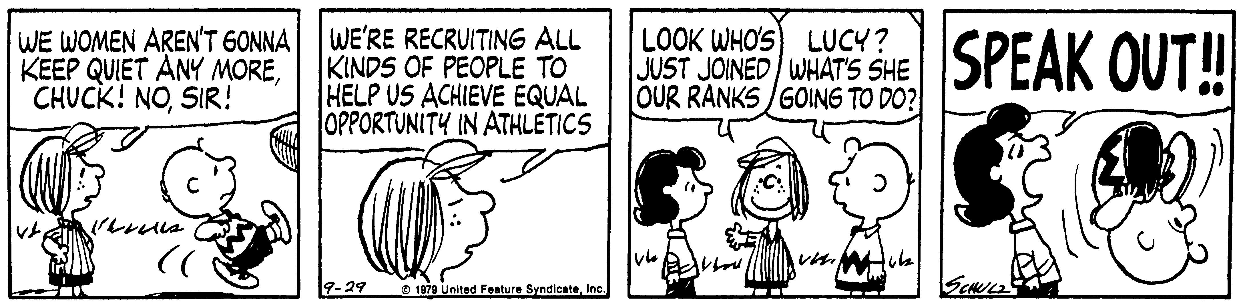 Peppermint Patty: Peanuts character became female sports