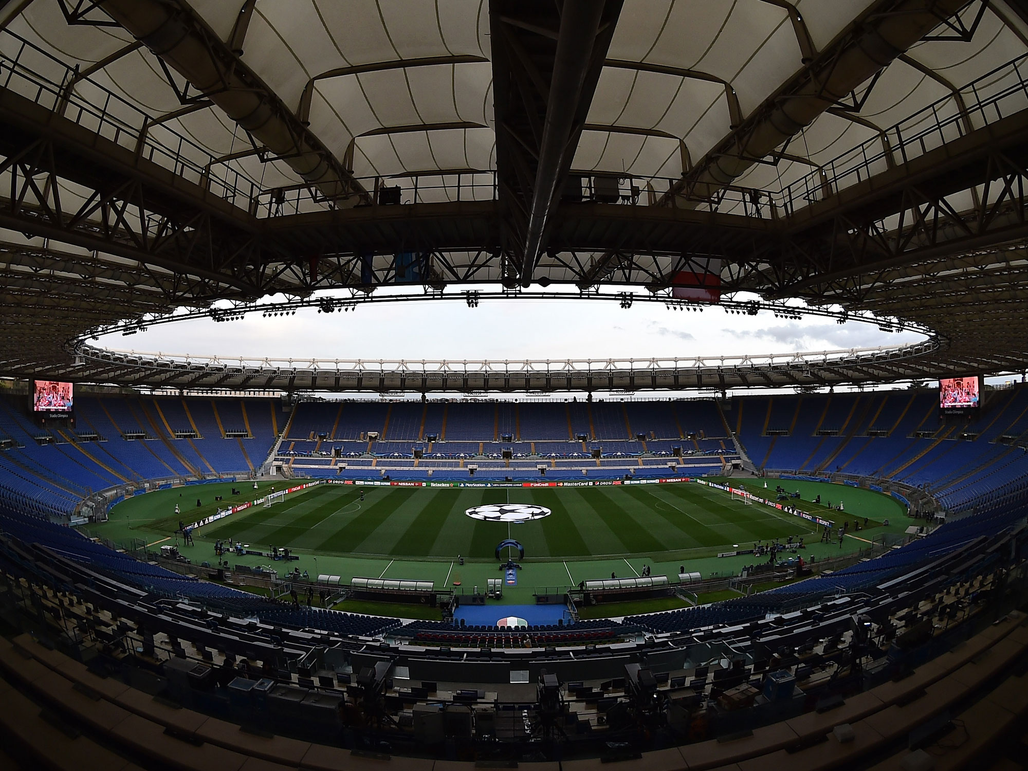 Stadio Olimpico in Rome is the home of AS Roma
