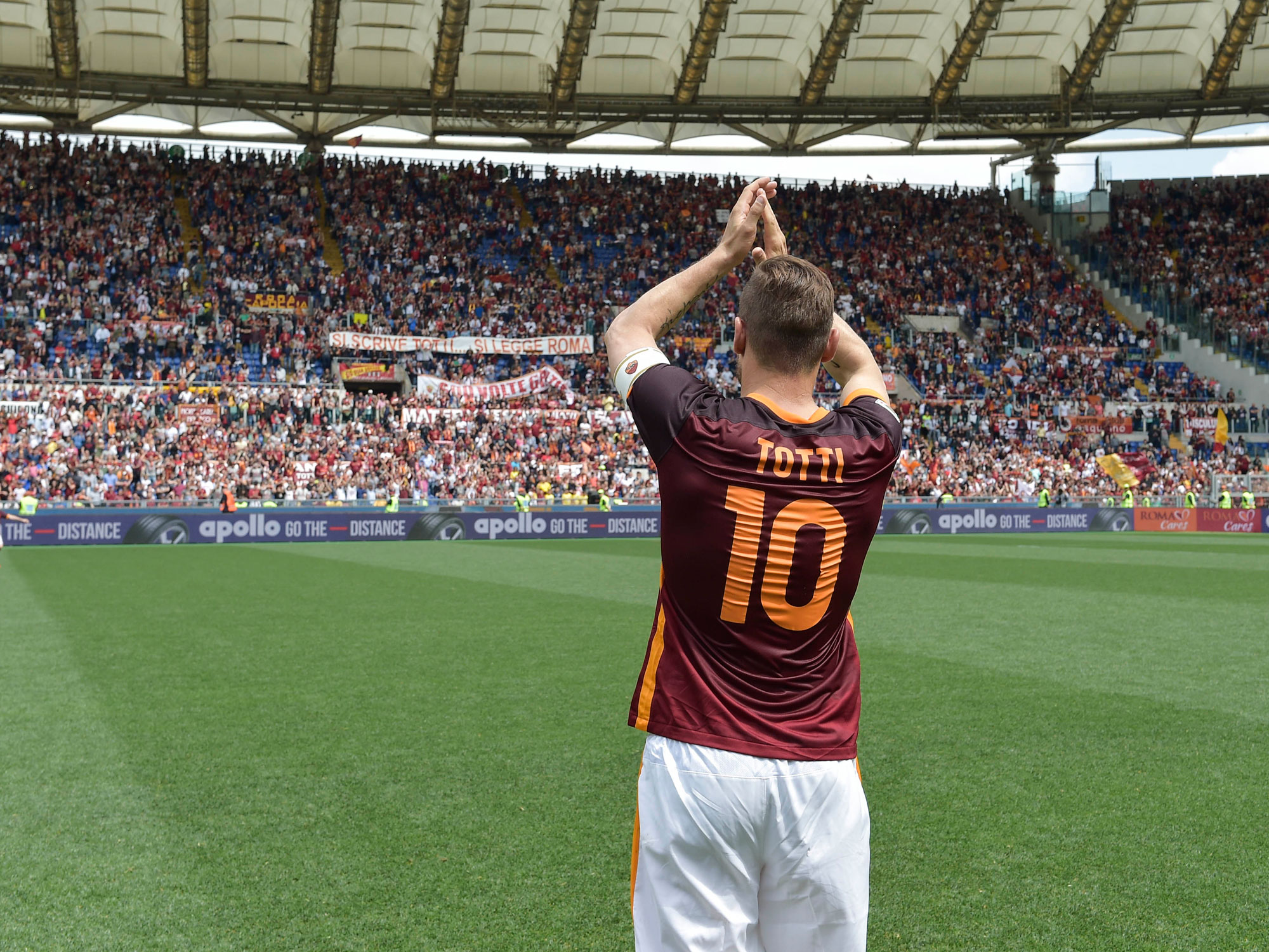 Francesco Totti has spent his entire career with AS Roma