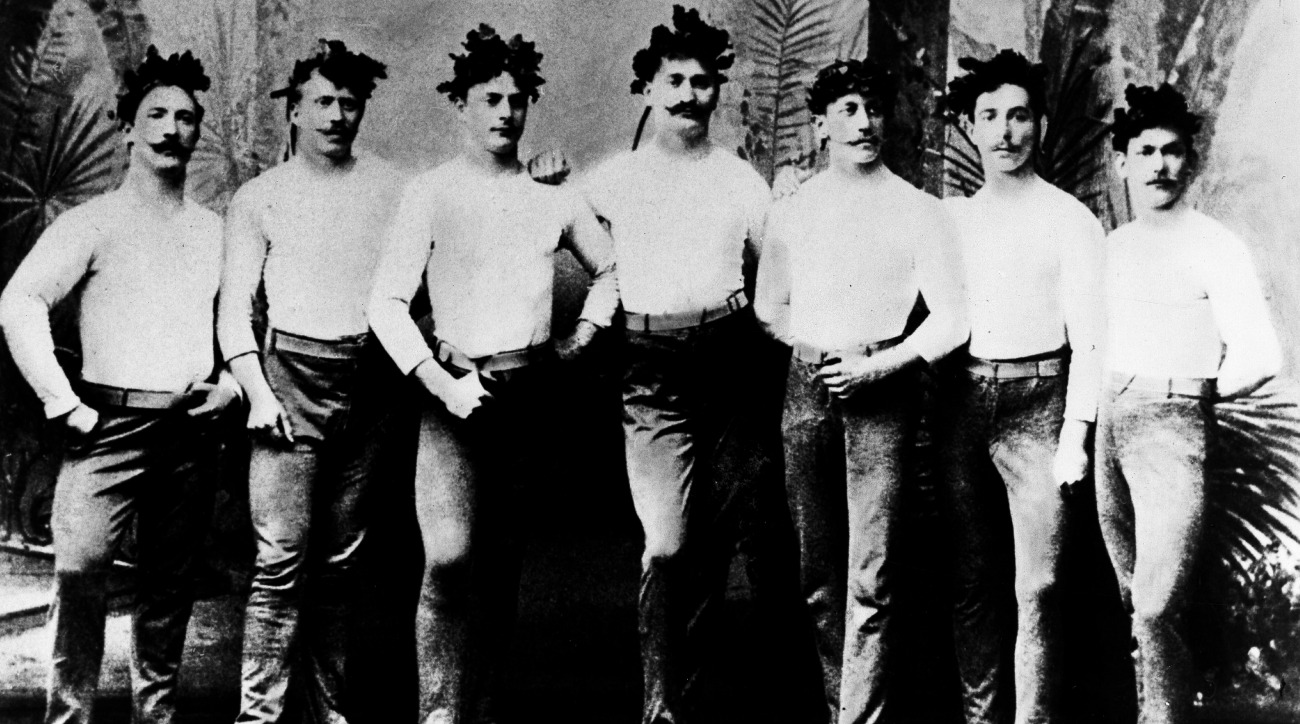 This is what the gold medal German Gymnastics team looked like in 1894