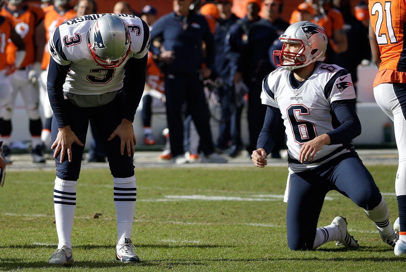 Gostkowski's missed extra point in the first half proved costly in the Patriots' 20-18 loss to the Broncos in the AFC title game.