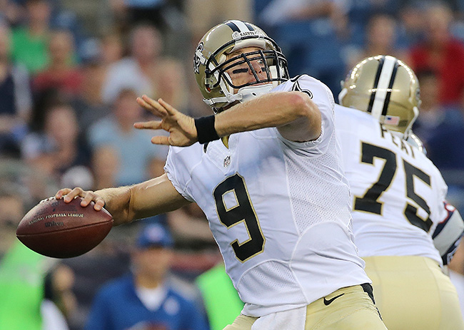 The 37-year-old Brees is still a master of the vertical passing game.