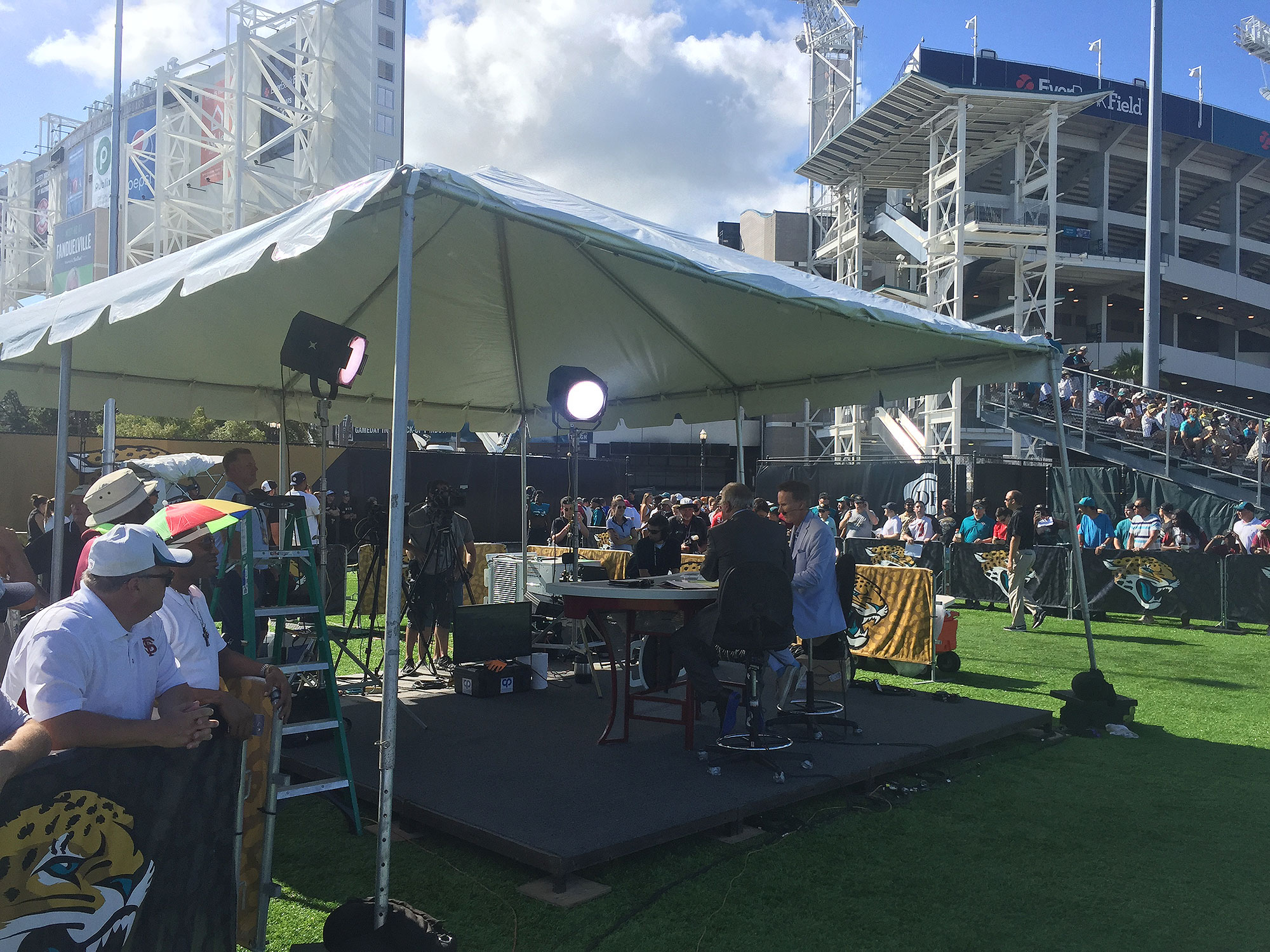 The latest indicator of relevance for Jags fans: ESPN set up shop in Jacksonville as part of the network's training camp tour.