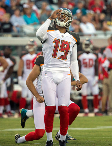 Bucs rookie kicker Roberto Aguayo has struggled in the preseason.