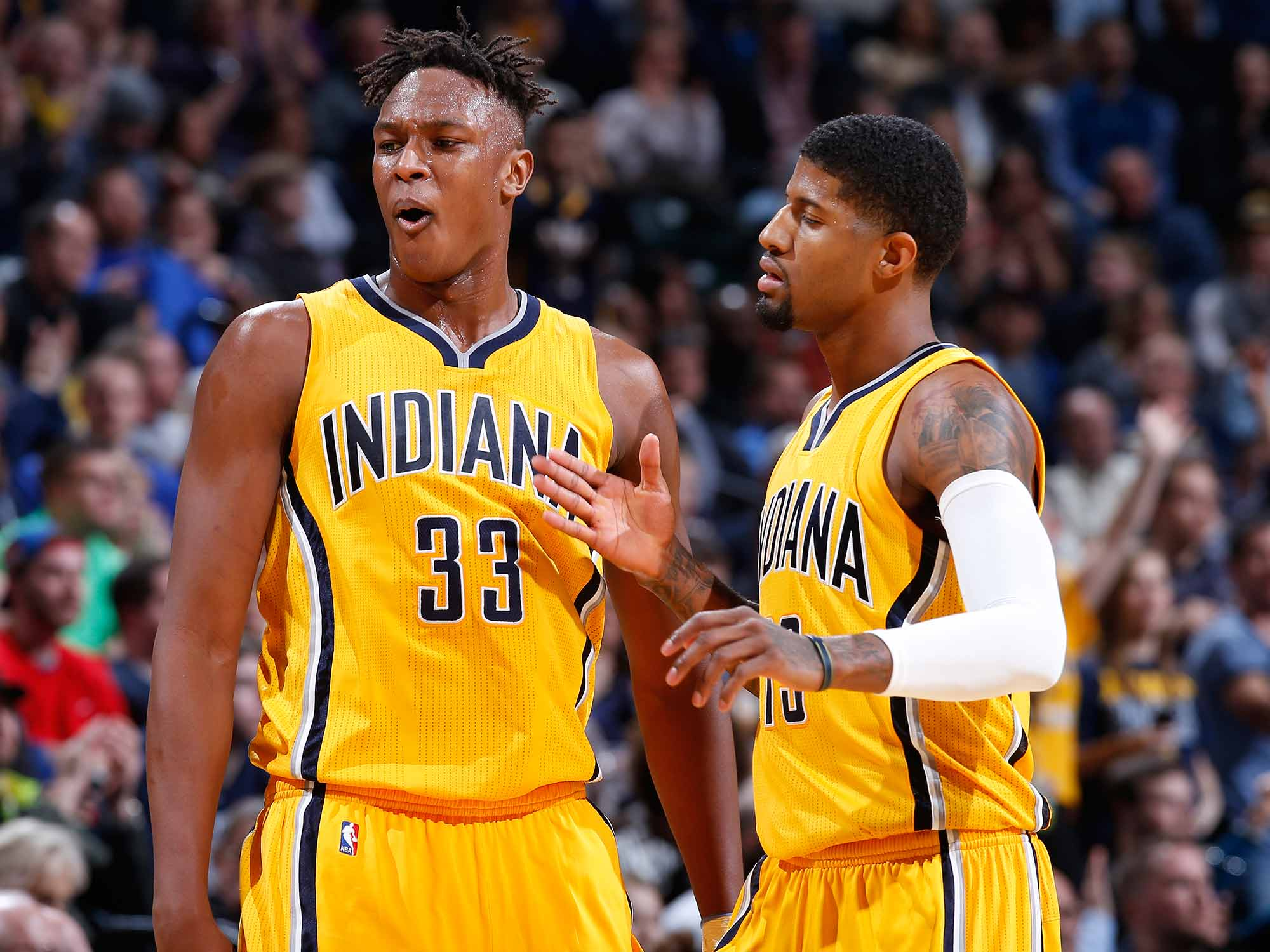 Myles Turner and Paul George