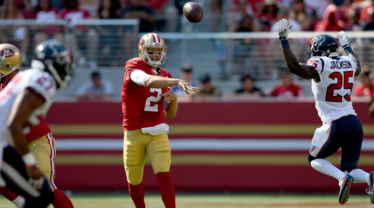 Blaine Gabbert started eight games for the Niners last season and went 3-5.