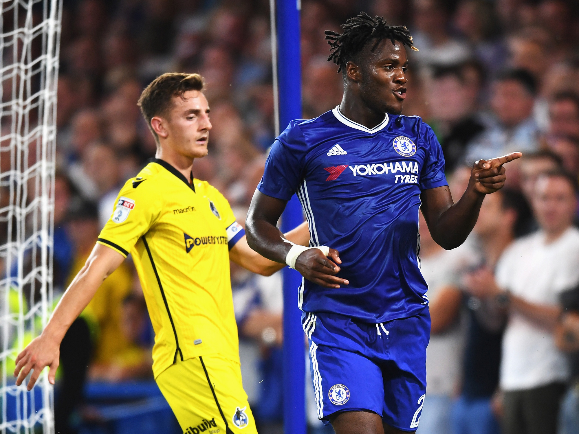 Michy Batshuayi is off to a strong start at Chelsea following his transfer from Marseille