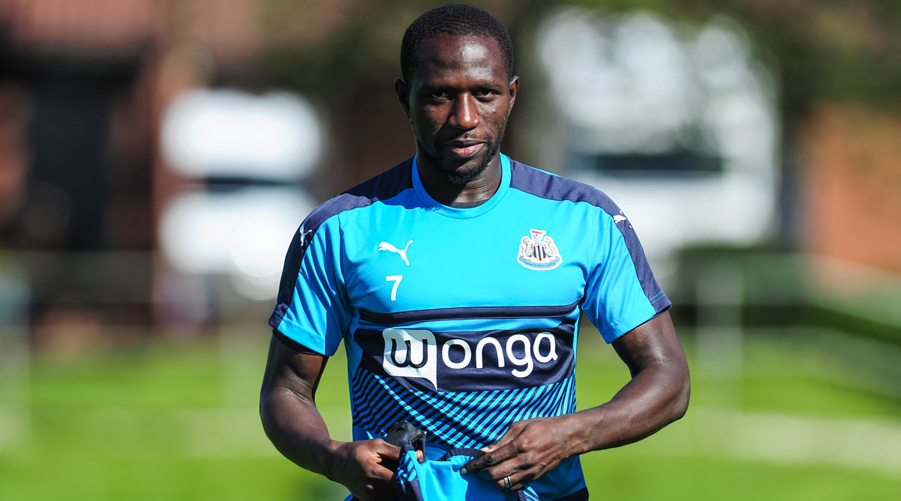 Moussa Sissoko is headed away from Newcastle