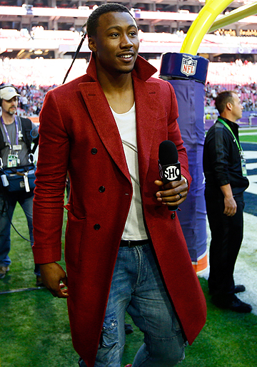 Brandon Marshall is doing TV work with Showtime now, rather than taking the traditional route of waiting until his playing days are over.