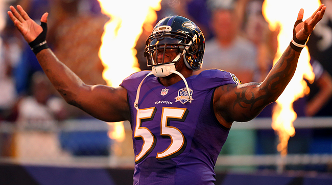 Baltimore Ravens pass rusher Terrell Suggs.