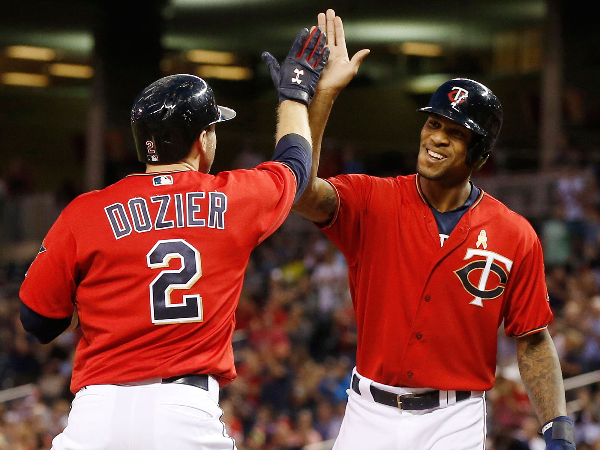 Brian Dozier and Byron Buxton, Minnesota Twins