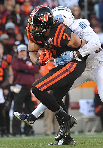 Virginia Tech TE Bucky Hodges